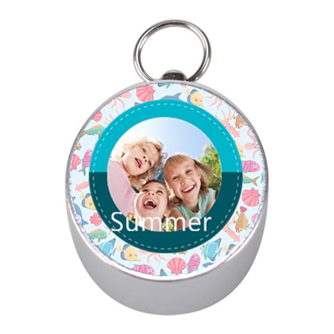 Summer By Summer Time    Silver Compass (mini)   3nkz7ox180nj   Www Artscow Com Front