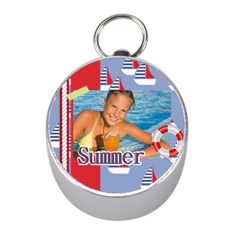 Summer By Summer Time    Silver Compass (mini)   R3haxb5fh9st   Www Artscow Com Front