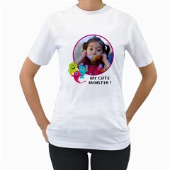 Women s T Shirt 2  Sided By Jennyl   Women s T Shirt (white) (two Sided)   120q5r9cx2fq   Www Artscow Com Front