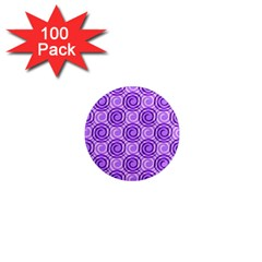 Purple And White Swirls Background 1  Mini Button Magnet (100 pack) by Colorfulart23