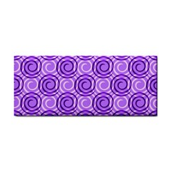 Purple And White Swirls Background Hand Towel by Colorfulart23