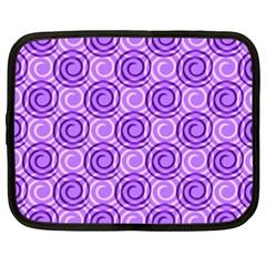 Purple And White Swirls Background Netbook Sleeve (xxl) by Colorfulart23