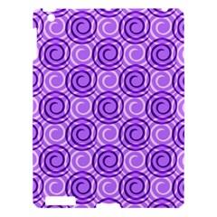 Purple And White Swirls Background Apple Ipad 3/4 Hardshell Case by Colorfulart23