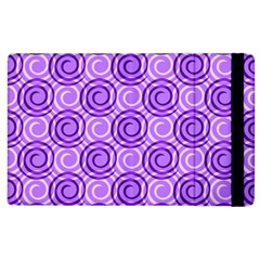 Purple And White Swirls Background Apple Ipad 3/4 Flip Case by Colorfulart23