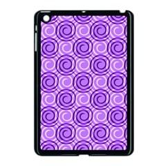 Purple And White Swirls Background Apple Ipad Mini Case (black)