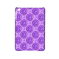 Purple And White Swirls Background Apple iPad Mini 2 Hardshell Case