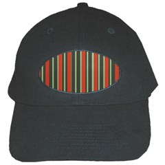 Festive Stripe Black Baseball Cap