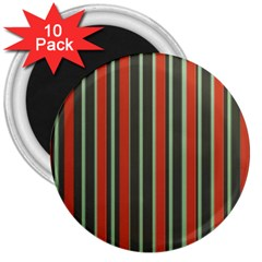 Festive Stripe 3  Button Magnet (10 Pack) by Colorfulart23