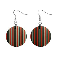 Festive Stripe Mini Button Earrings by Colorfulart23