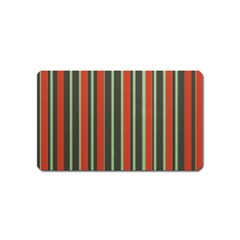 Festive Stripe Magnet (name Card) by Colorfulart23