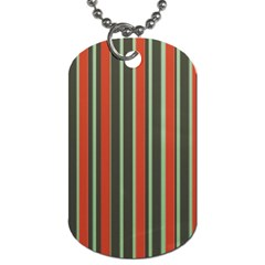 Festive Stripe Dog Tag (one Sided) by Colorfulart23