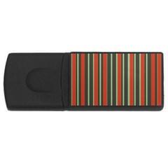Festive Stripe 4gb Usb Flash Drive (rectangle) by Colorfulart23
