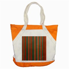 Festive Stripe Accent Tote Bag by Colorfulart23