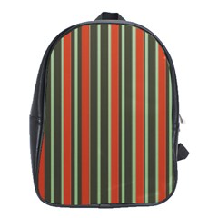 Festive Stripe School Bag (xl) by Colorfulart23