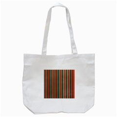 Festive Stripe Tote Bag (white)