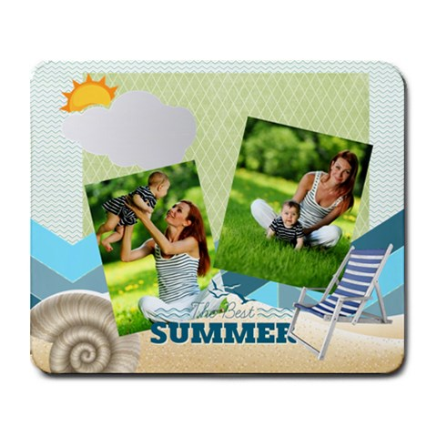 Summer By Summer Time    Collage Mousepad   Fvu5hfvdhpr3   Www Artscow Com 9.25 x7.75 Mousepad - 1
