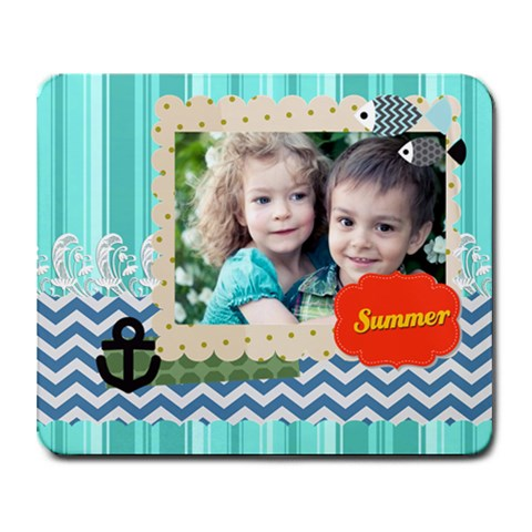 Summer By Summer Time    Collage Mousepad   84m9rljgndy5   Www Artscow Com 9.25 x7.75 Mousepad - 1