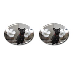 French Bulldog With Boat  Cufflinks (oval) by StuffOrSomething