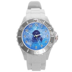 French Bulldog Swimming Plastic Sport Watch (large)