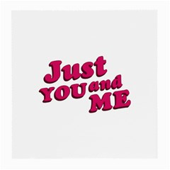 Just You And Me Typographic Statement Design Glasses Cloth (medium) by dflcprints