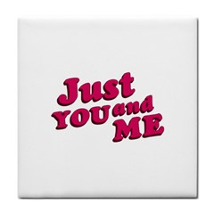 Just You And Me Typographic Statement Design Face Towel by dflcprints