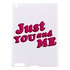 Just You And Me Typographic Statement Design Apple Ipad 3/4 Hardshell Case by dflcprints