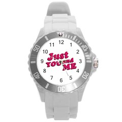 Just You And Me Typographic Statement Design Plastic Sport Watch (large) by dflcprints