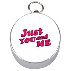 Just You And Me Typographic Statement Design Silver Compass by dflcprints