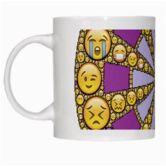 Circle Of Emotions White Coffee Mug by FunWithFibro