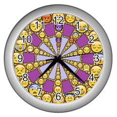 Circle Of Emotions Wall Clock (silver) by FunWithFibro