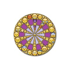 Circle Of Emotions Magnet 3  (round) by FunWithFibro