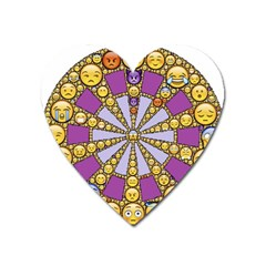 Circle Of Emotions Magnet (heart) by FunWithFibro