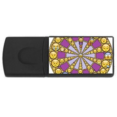 Circle Of Emotions 4gb Usb Flash Drive (rectangle) by FunWithFibro