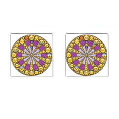 Circle Of Emotions Cufflinks (square) by FunWithFibro