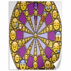 Circle Of Emotions Canvas 12  X 16  (unframed) by FunWithFibro