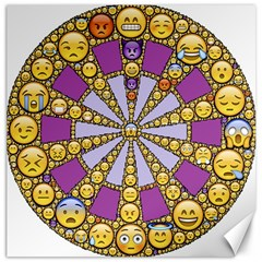 Circle Of Emotions Canvas 16  X 16  (unframed) by FunWithFibro