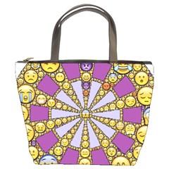 Circle Of Emotions Bucket Handbag by FunWithFibro