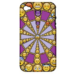 Circle Of Emotions Apple Iphone 4/4s Hardshell Case (pc+silicone) by FunWithFibro