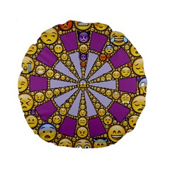 Circle Of Emotions 15  Premium Round Cushion  by FunWithFibro