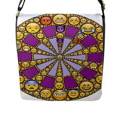 Circle Of Emotions Flap Closure Messenger Bag (large) by FunWithFibro