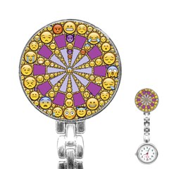 Circle Of Emotions Stainless Steel Nurses Watch by FunWithFibro
