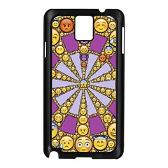 Circle Of Emotions Samsung Galaxy Note 3 N9005 Case (black) by FunWithFibro