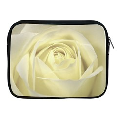 Cream Rose Apple Ipad Zippered Sleeve by Colorfulart23