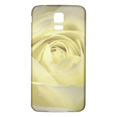 Cream Rose Samsung Galaxy S5 Back Case (White) by Colorfulart23