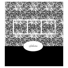 Black And White Drawstring Pouch (large) By Deborah   Drawstring Pouch (large)   Hk2rw04lvvhr   Www Artscow Com Front