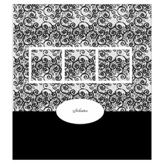 Black And White Drawstring Pouch (medium) By Deborah   Drawstring Pouch (medium)   Eistkhxab6x2   Www Artscow Com Front