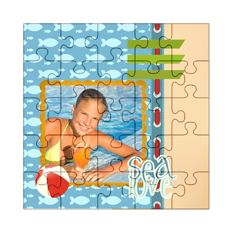 Summer By Summer Time    Acrylic Jigsaw Puzzle (8  X 8 )   B0mokeroebzl   Www Artscow Com Front