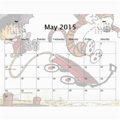 Calendar   Calvin And Hobbes By Scott Grambo   Wall Calendar 11  X 8 5  (12 Months)   Aibhmq0tzu1s   Www Artscow Com May 2015