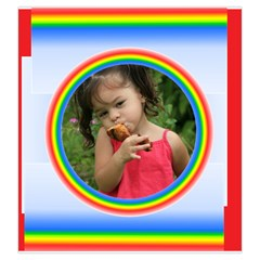 Rainbow Drawstring Pouch (large) By Deborah   Drawstring Pouch (large)   Gh6017qp2m68   Www Artscow Com Front