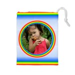 Rainbow Drawstring Pouch (large)
